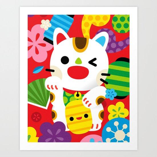 Maneki Neko Art Print