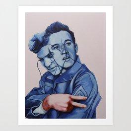 Elvis' peace Art Print