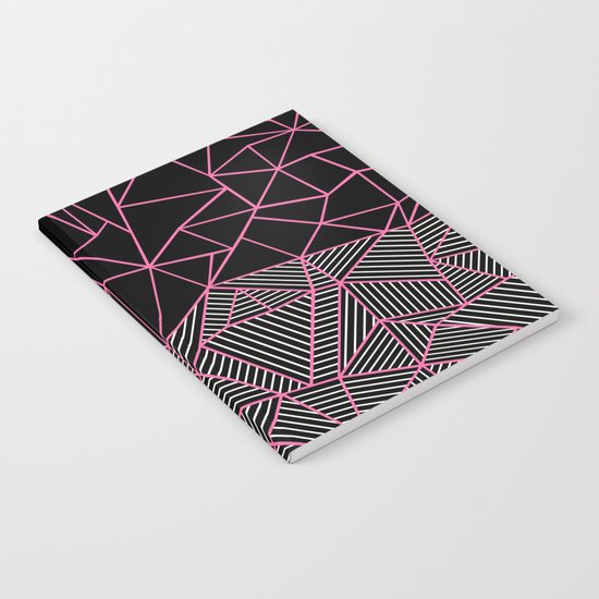 Ab Half an Half Black and Pink Notebook