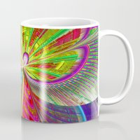 buildings Mugs featuring abstract buildings by haroulita