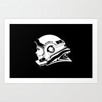 astronaut Art Prints featuring Astronaut by Sventine