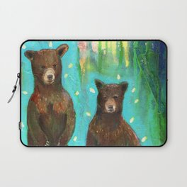 Twin Cubs at Dawn Laptop Sleeve