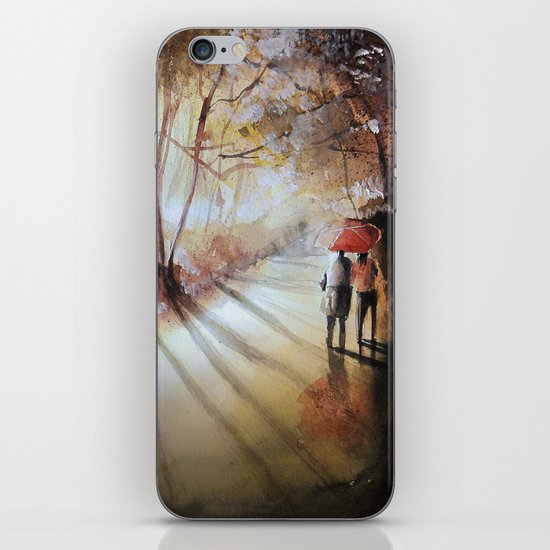 Break in the clouds - watercolor iPhone & iPod Skin