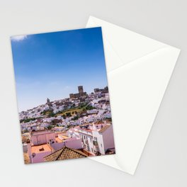 Whitewashed town of Arcos de la Frontera in Cadiz, Andalusia, Spain Stationery Cards