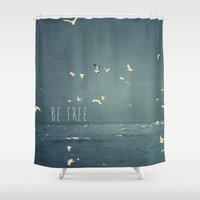 typography Shower Curtains featuring typography by Ingrid Beddoes photography