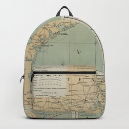 Vintage US Gulf of Mexico Lighthouse Map (1898) Backpack