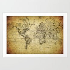 World Map 1814 Art Print