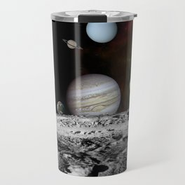 Solar System View from the Moon Travel Mug