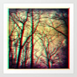 3-d vision Art Print