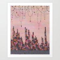 Traveling Skyline Art Print