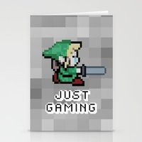 gaming Stationery Cards featuring JUST GAMING by Edgar