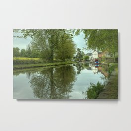 The Canal at Stoke Prior Metal Print