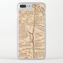 Vintage Map of The Battle of Bull Run (1861) Clear iPhone Case