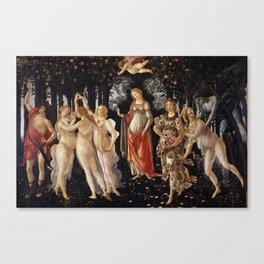La Primavera - Allegory Of Spring - Sandro Botticelli Canvas Print