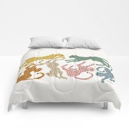 Rainbow Cheetah Comforters