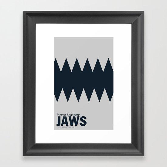 Jaws | Minimalist Poster Framed Art Print