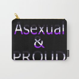 Asexual and Proud (black bg) Carry-All Pouch