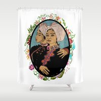 twins Shower Curtains featuring Twins by Nina Twin
