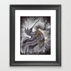 Smoke and Ashes Framed Art Print