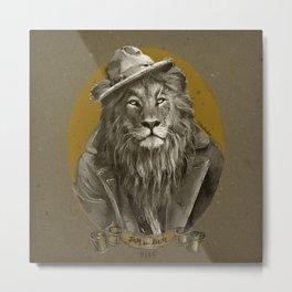 Jay the Lion - Hobo Metal Print