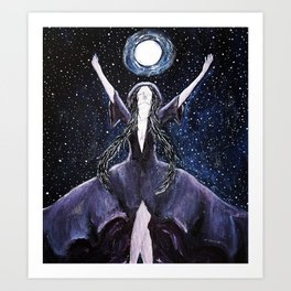 Nyx, Goddess of night Art Print