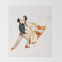Gene Kelly and Cyd Charisse - Brigadoon Throw Blanket