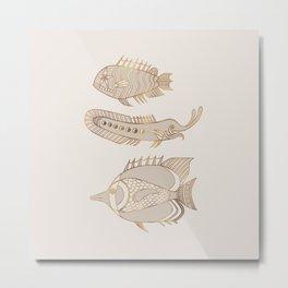Fantastical Fish 1 - Natural Metal Print