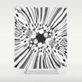 Hallucination flower B/W variant Shower Curtain