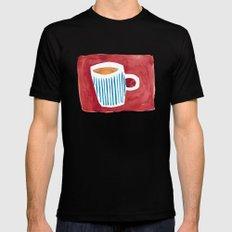 Coffee Black MEDIUM Mens Fitted Tee