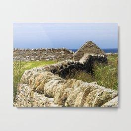 Dry Stone Dyke Metal Print