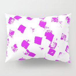 Modern abstract pink watercolor brushstrokes texture pattern Pillow Sham