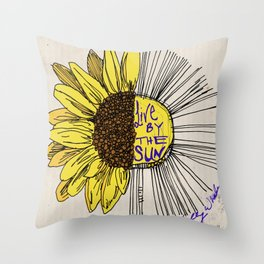 Live By the Sun Throw Pillow