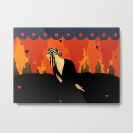 """Art Deco Illustration """"Memories"""" by Erté Metal Print"""