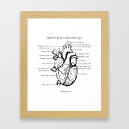 Anatomy of the Human Heart (fig 1) Framed Art Print