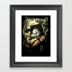 so long and thanks! (colour) Framed Art Print