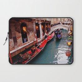 Gondolas On A Small Venetian Canal Laptop Sleeve