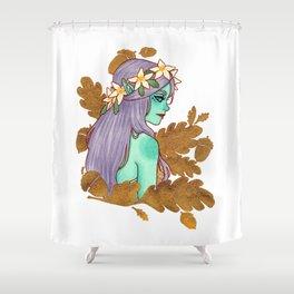 Golden Dryad Shower Curtain