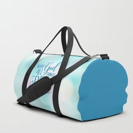 God All Things Possible Bible Quote Duffle Bag
