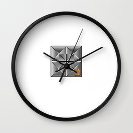 Dogs in a labyrinth Wall Clock