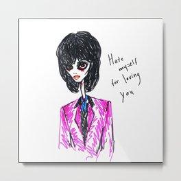 Zombie Joan Jett Metal Print