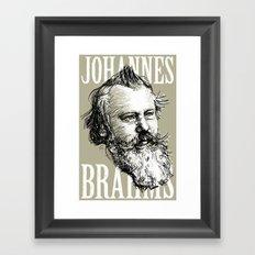 Johannes Brahms BW Framed Art Print