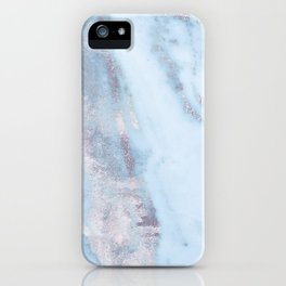 Light Blue Gray Marble iPhone Case