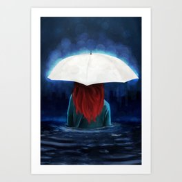 When It Rains Art Print