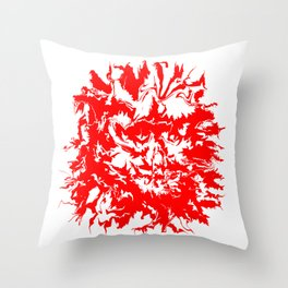 face11 red Throw Pillow