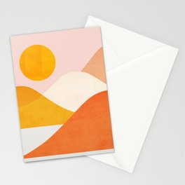 Abstraction_Mountains_Minimalism_001 Stationery Cards