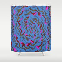 fabric Shower Curtains featuring Fabric A by Vitta