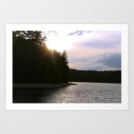 Sunset at Concord's Walden Pond 2 Art Print