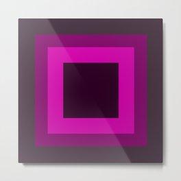 Dark Purple Square Design Metal Print