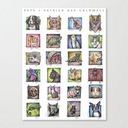Pet Compilation Canvas Print