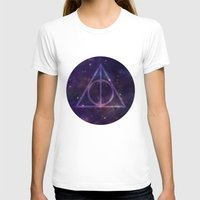 deathly hallows T-shirts featuring Deathly Hallows in Space by Hannah Ison